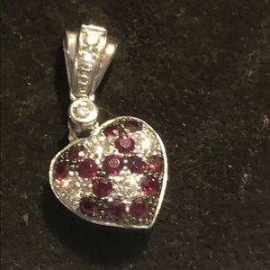 Levian 14k white gold heart pendant